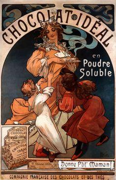 Chocolat Ideal, Alphonse Maria Mucha