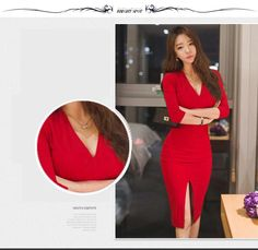 225aa49dd0a Midi Femmes Robe Bandage Bureau Fête Sexy Moulante Noir Robe Vintage Rouge  Robes Grande Taille demi