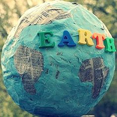 Learn geography and about Earth day with the awesome paper mache globe. Kids' crafts for Earth Day are fun and educational.