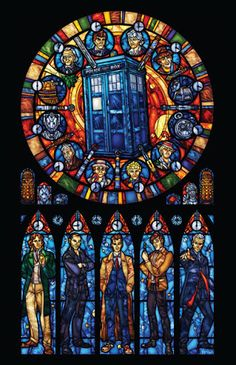 Marissa Garner's Doctor Who Stained Glass Art