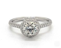 .9ct Round Halo Engagement Ring in White Gold - See it in 360 HD SuperZoom!