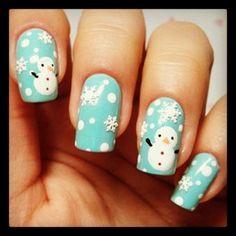 Cute snowman nails!