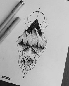 Super Ideas For Tattoo Designs Sketches Graphics tattoo sketches Super Ideas For Tattoo Designs Sketches Graphics Geometric Sleeve Tattoo, Geometric Tattoo Design, Sleeve Tattoos, Pencil Art Drawings, Tattoo Drawings, Sketch Tattoo, Schrift Design, Tattoo Designs, Tattoo Graphic