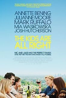 The Kids Are All Right on DVD November 2010 starring Annette Bening, Julianne Moore, Mark Ruffalo, Mia Wasikowska. Two teenaged children (Mia Wasikowska and Josh Hutcherson) get the notion to seek out their biological father and introduce him into the fam Mia Wasikowska, Josh Hutcherson, Mark Ruffalo, Julianne Moore, Great Films, Good Movies, Annette Bening, All Family, Family Life