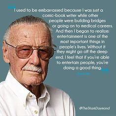 Check out the top 28 inspirational stan lee quotes. Stan Lee was a living legend. His death has brought a great loss to the world of comics. Read our best collection of inspirational stan lee quotes below. Marvel Dc Comics, Marvel Heroes, Marvel Avengers, Avengers Memes, Marvel Fan, Stan Lee Quotes, Medical Careers, Marvel Quotes, Man Lee