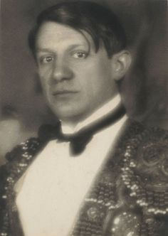 Pablo Picasso, Paris, early 1920's.  Photographed by Man Ray (via beinecke)