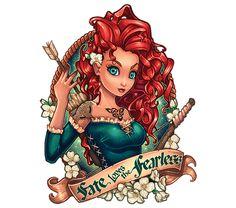 Fate Loves the Fearless by Tim Shumate art - Disney Brave Merida Disney Pin Up, Disney Fan Art, Disney Love, Disney Disney, Disney Kunst, Arte Disney, Disney Magic, Disney Tattoos, Tim Shumate