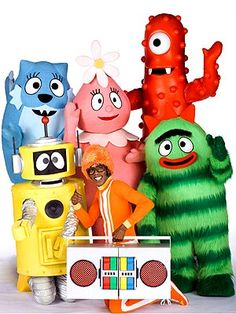 The Yo Gabba Gabba show lets me take a shower on the weekends. Hudson is attracted to the bright colors and music.
