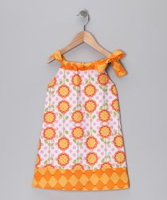 Take a look at this Orange Hailey Dress - Girls by Hippo Hula on #zulily today!