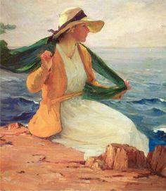 woman at the sea...