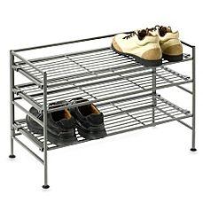 image of 3-Tier Iron Stackable Shoe Shelf