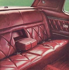 Interior trim for the 1969 Continental Mark III included genuine leather in 9 color options and 6 silky nylon cloth and vinyl choices. Custom Car Interior, Truck Interior, Interior Trim, Leather Interior, Interior Shutters, Automotive Upholstery, Car Upholstery, Custom Chevy Trucks, Custom Cars