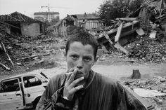 Pristina, Kosovo, 1999.   Photo by Abbas