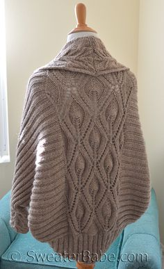 Ravelry: #191 Tabitha Cocoon Cardigan pattern by SweaterBabe