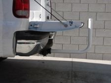 Our hitch mount is designed for use with our 22' heavy duty  telescopic fiberglass flagpole. May be used with either end attaching to  the receiver hitch on your vehicle allows for additional space. This is the tailgaters number one choice to display their flagpole and flags.  http://www.a1flagsnpoles.com/hitch-mount