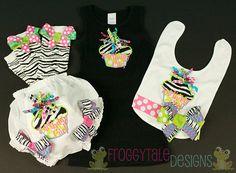 Zebra Birthday Girl Cupcake Tank Top Dress by FroggytaleDesigns,