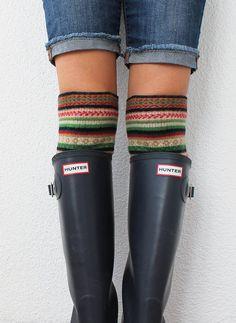 Boot Socks Knitted Boot Cuff Socks Leg Warmer Women's by fairstore, $19.00