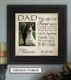 father of the bride gift favorite walk by photoframekeepsakes 6900