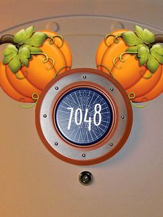 Cute Fall Pumpkins Disney Cruise Door Magnet design. Just order & instantly download.