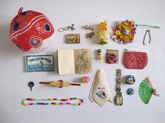 Vintage little toy collection... surprise ball by Gina Namkung