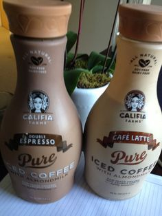 Califia Farms Iced Coffee Almond Milk in flavors Latte and Espresso are #AshleyKoffApproved