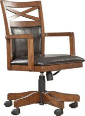 Brown Burkesville Home Office Desk Chair by Ashley Furniture Porch Chairs, Wrought Iron Patio Chairs, Dining Chairs, Desk And Chair Set, Desk Chair, Swivel Chair, Chair Cushions, Rustic Office Chairs, Hanging Chair From Ceiling