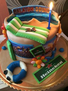 My birthday cake  #cake #balatonsound #hungary #slovakia #edm #balaton  Instagram: adamkuvarga