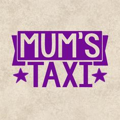 Decal Sticker Graphics Mums Taxi Vehicle Laptop by TheHenCompany