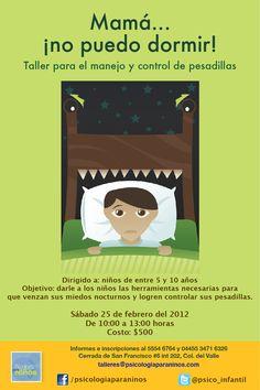 Mamá...¡no puedo dormir!  talleres@psicologiaparaninos.com