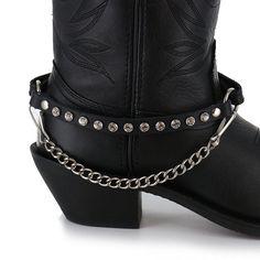 Almax Women's Studded Leather Boot Bracelet                              …