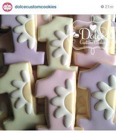 Flower number cookies