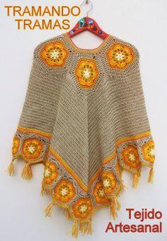crochet poncho  http://tejiendocon-donny.blogspot.com.ar/    http://graficos-patrones-crochet-tricot.blogspot.com.ar/  http://bordadosypuntocruz-donny.blogspot.com.ar/    http://graficos-patrones-crochet-tricot.blogspot.com.ar/