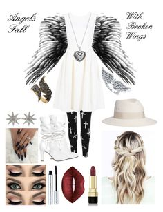 """Angels Fall: Supernatural Inspired"" by themarveldemigod ❤ liked on Polyvore featuring WearAll, ADAM, Philosophy di Lorenzo Serafini, BERRICLE, Maison Michel, 100% Pure, Lime Crime, Dolce&Gabbana, Bee Goddess and Silver Expressions by LArocks"