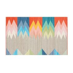 Featherbottom rug by CB2, $89–$459 While the weave in this cotton dhurrie is flat, the vibrant, angular pattern certainly is not. At $89 for a three-by-five-foot rug, it's an affordable way to add oomph to a room.
