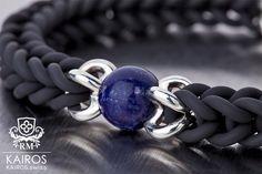 Labradorit pearl bracelet with silver elements. Fashion designer jewelry by KAIROS. Designer Jewelry, Jewelry Design, Pearl Bracelets, Sapphire, Pearls, Rings, Silver, Fashion Design, Armband