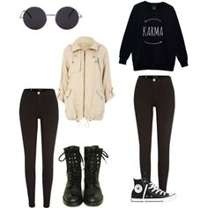 which one would you rather wear by loverofeverything8infinite on Polyvore featuring polyvore fashion style River Island Chanel Converse