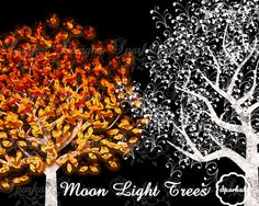 TREE LIGHTS Clipart Tree Clipart Great for by SparkalDigitalDesign, $4.85