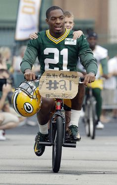 Ha-Ha's first ride.........a Packer tradition