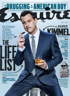 #Esquire - April 2014 featuring Jimmy Kimmel - Available on Library Subscriptions - Your Library Magazine Subscriptions