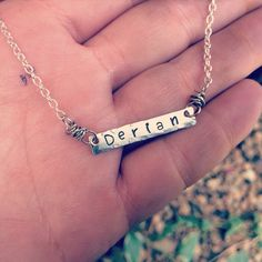 "Small silver unique personalized ""NAME"" necklace  on Etsy, $25.00"