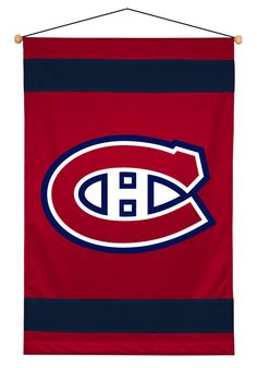 Montreal Canadiens Sidelines Wall Banner Flag from Team Sports. Click now to shop NHL Banners & Flags Banners. Hanging Banner, Woven Wall Hanging, Hockey Bedroom, Hockey Goalie, Montreal Canadiens, Mesh Material, Chicago Cubs Logo, Boy Room, Nhl