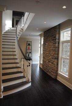 pictures of homes with dark wood looking tile | dark-wood-flooring