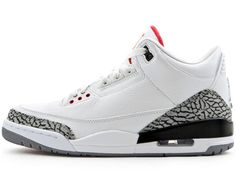 differently 6a850 b09c7 Air Jordan 3 (III) Retro - White   Fire Red - Cement Grey - Black