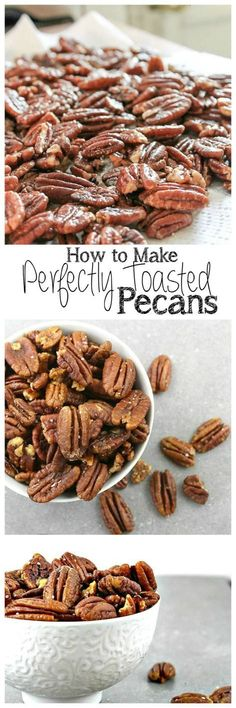 Perfectly Toasted Pecans - Take Two Tapas Pecan Recipes, Snack Recipes, Dessert Recipes, Cooking Recipes, Desserts, Tapas Recipes, Crab Recipes, Party Recipes, Cooking Ideas
