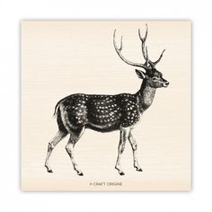 Grand Cerf - Tampon caoutchouc - Craft Origine #craftorigine #diy #tampon #scrapbooking #stamps #cerf #deer