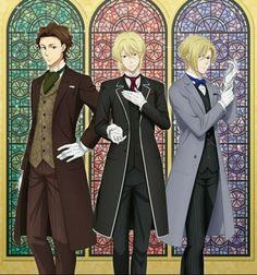 Holmes Brothers, Sherlock Holmes 3, James Moriarty, Anime Watch, Harry Potter Anime, Cute Cartoon Animals, Another Anime, Anime Stories, Handsome Anime