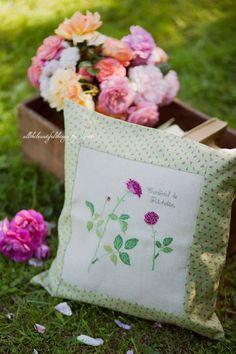 Cross Stitching Kazuko Aoki Pillow Flowers Summer