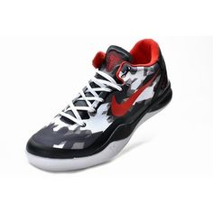 Fitted For Nike Zoom Kobe VIII 8 Men Shoes Black/White/Red 1002 For