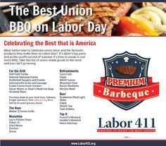Make your Labor Day BBQ a union-made one with Labor 411's guide! #unionmade #MadeInAmerica