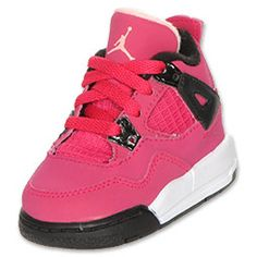 The Jordan Toddler Retro 4 Basketball Shoes will get you recognized and a conversation started almost anywhere. The classic shoes are meant for the court! Synthetic and mesh upper provides a comfortable yet durable fit. Strategic pulls help lock feet over the midsole platform for a stable and secure fit. The Nike Air logo on the rear heel tab has been replaced with the Jumpman logo.